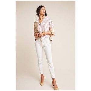Pilcro Letterpress High Rise Denim Legging White